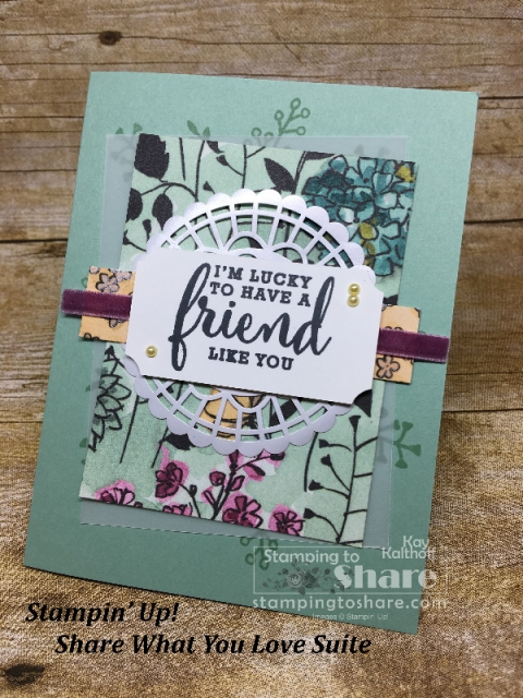 Stampin' Up! Share What You Love OnStage Card created by Kay Kalthoff for #stampingtoshare
