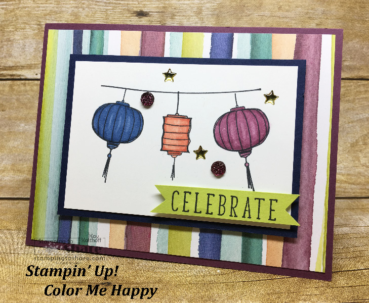 Color Me Happy! Great for Summer Celebrations! FREE Project Sheet Included!