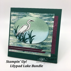 How to Make a Square Card with the NEW Lilypad Lake Bundle from Stampin' Up!