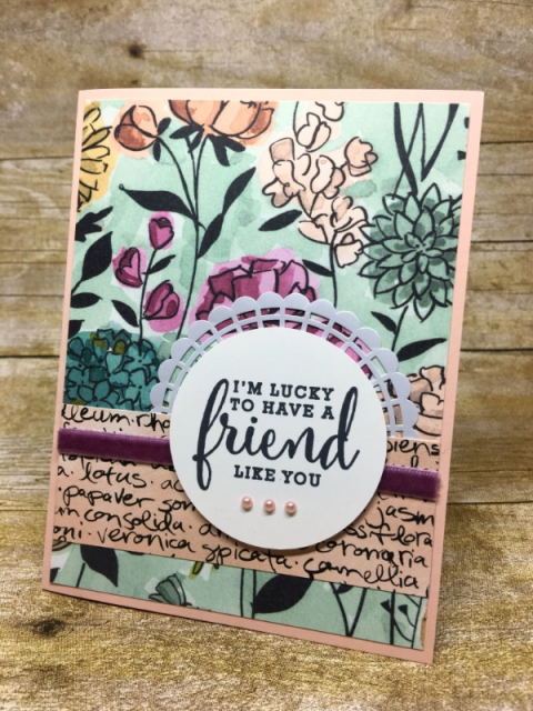 Stampin' Up! Share What You Love on Petal Pink created by Kay Kalthoff for #stampingtoshare