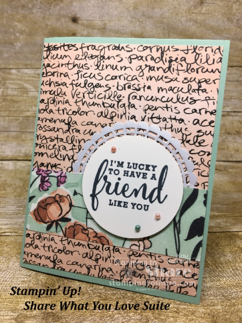 Stampin' Up! Share What You Love on Mint Macaron created by Kay Kalthoff for #stampingtoshare