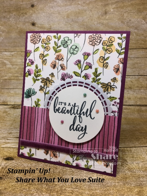 Stampin' Up! Share What You Love on Blackberry Bliss created by Kay Kalthoff for #stampingtoshare