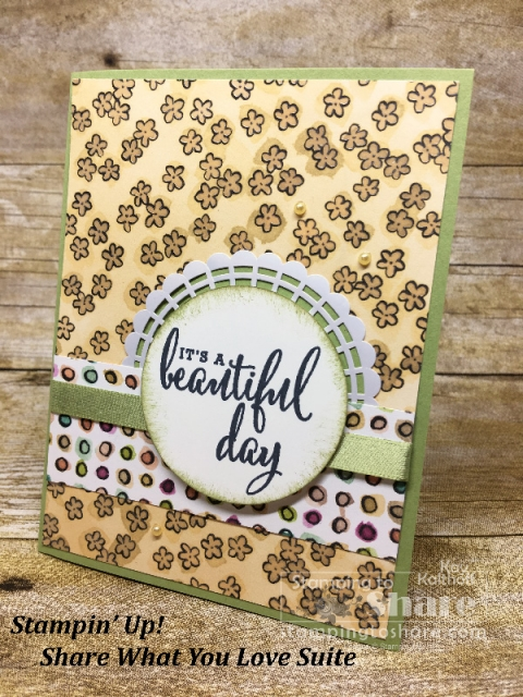 Stampin' Up! Share What You Love on Pear Pizzazz created by Kay Kalthoff for #stampingtoshare