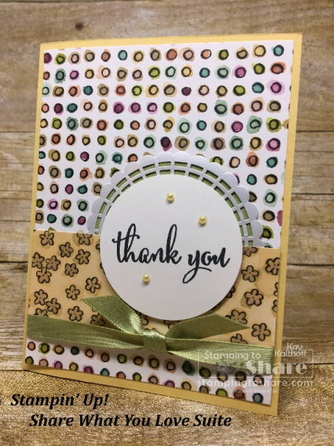 Stampin' Up! Share What You Love on So Saffron created by Kay Kalthoff for #stampingtoshare