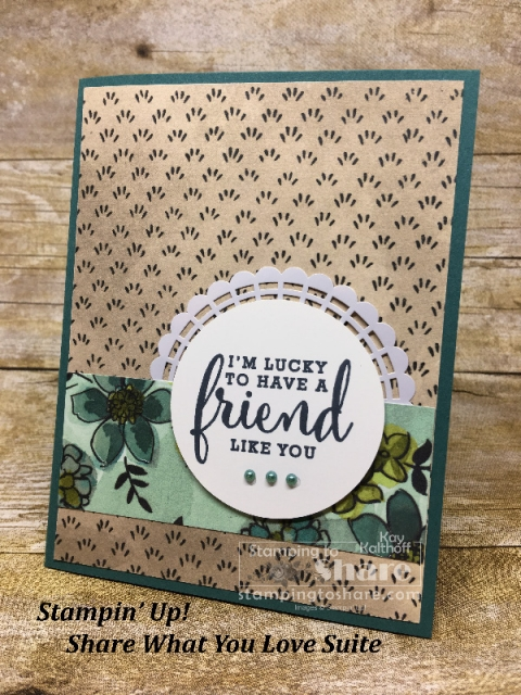 Stampin' Up! Share What You Love on Tranquil Tide created by Kay Kalthoff for #stampingtoshare