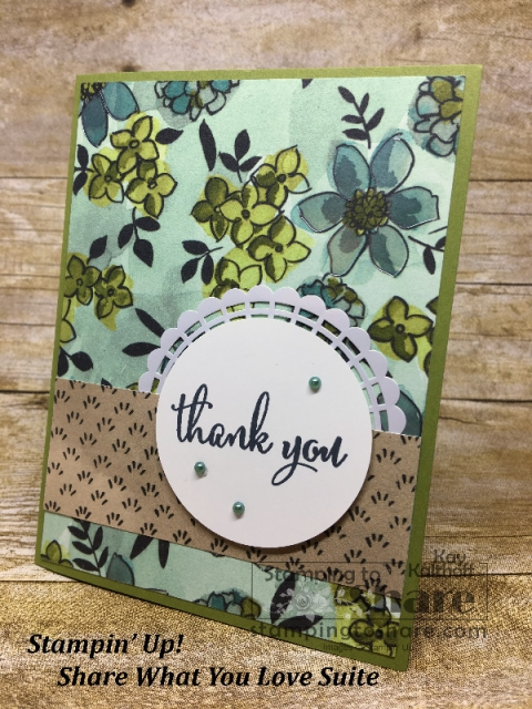 Stampin' Up! Share What You Love on Old Olive created by Kay Kalthoff for #stampingtoshare