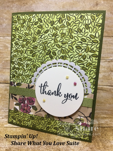 Stampin' Up! Share What You Love on Mossy Meadow created by Kay Kalthoff for #stampingtoshare