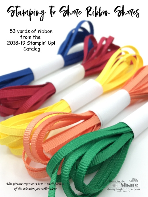 2018-19 Annual Catalog Perfect Ribbon Shares by Kay Kalthoff, Annual Catalog Product Shares for #stampingtoshare