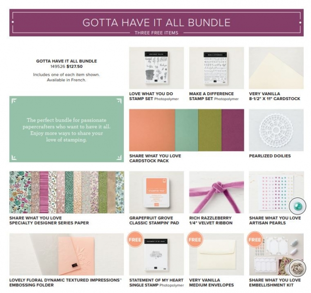 Stampin' Up! Share What You Love Gotta Have It All Bundle #stampingtoshare