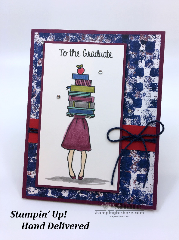 Stampin' Up! Hand Delivered Graduation Card with FREE Project Sheet!