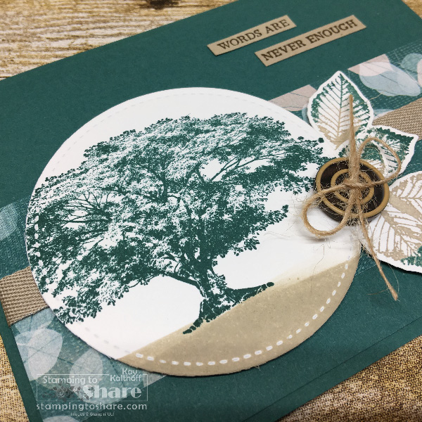Stampin' Up! Nature's Poem Product Suite with Rooted in Nature Stamp Set created by Kay Kalthoff for #stampingtoshare