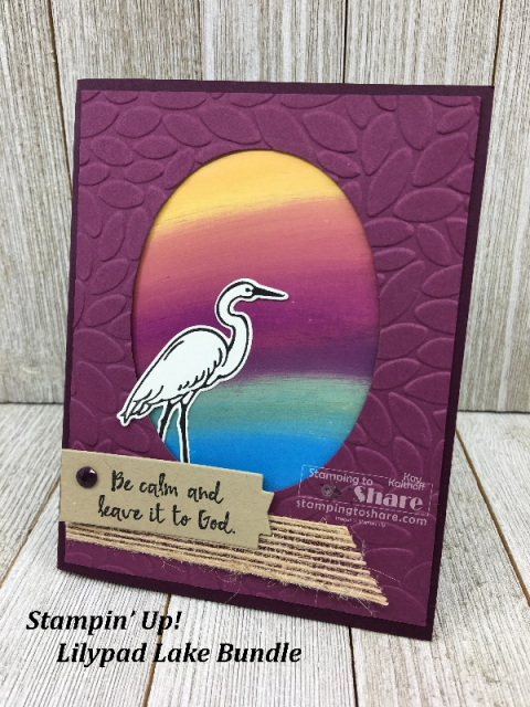 Fab Friday Facebook Live Lilypad Lake Bundle with Swiped Sunset Technique created by Kay Kalthoff for #stampingtoshare