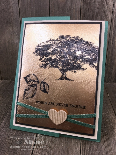 Fab Friday FB Live Textured Foil Background with Stampin' Up! Rooted in Nature created by Kay Kalthoff #stampingtoshare