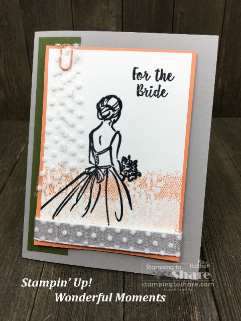 Grapefruit Grove Wonderful You Bridal Shower card created by Kay Kalthoff for #stampingtoshare
