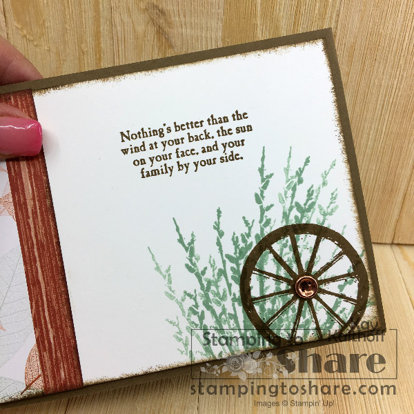 Stampin' Up! Country Road Inside Panel created by Kay Kalthoff for #stampingtoshare