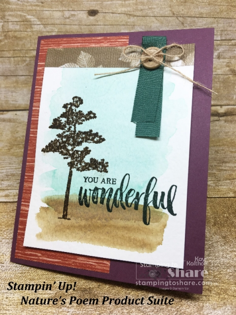 Stampin' Up! Rooted in Nature Catalog Case created by Kay Kalthoff for #stampingtoshare