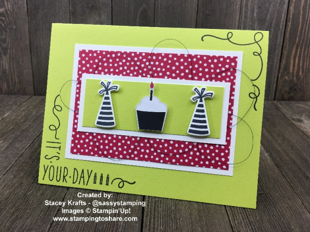 Created by Stacey Krats with Broadway Birthday and Around the Corner for swap with #stampingtoshare