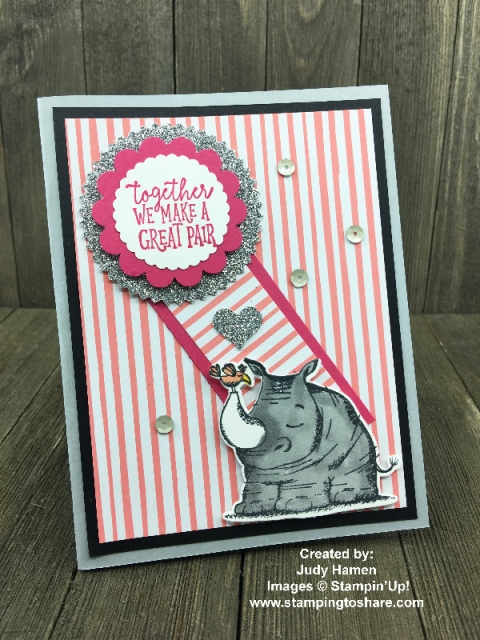 Created by Judy Hamen with Animal Outing Bundle for swap with #stampingtoshare