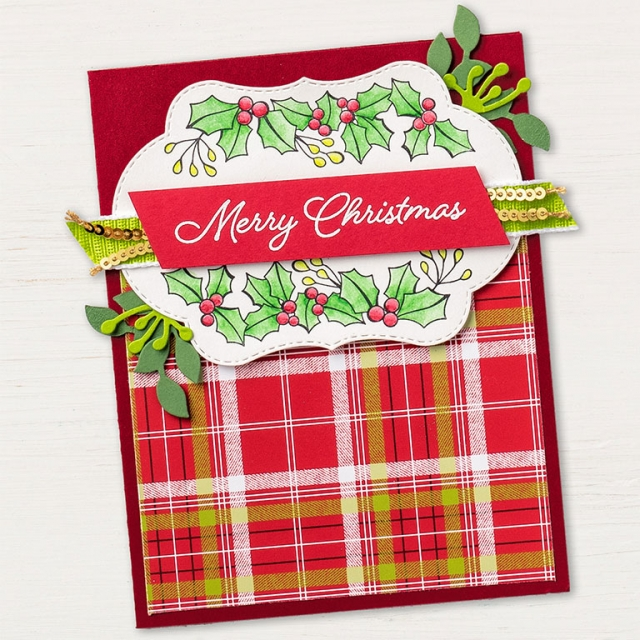 Blended Season Christmas Card With Supply List Stamping To Share