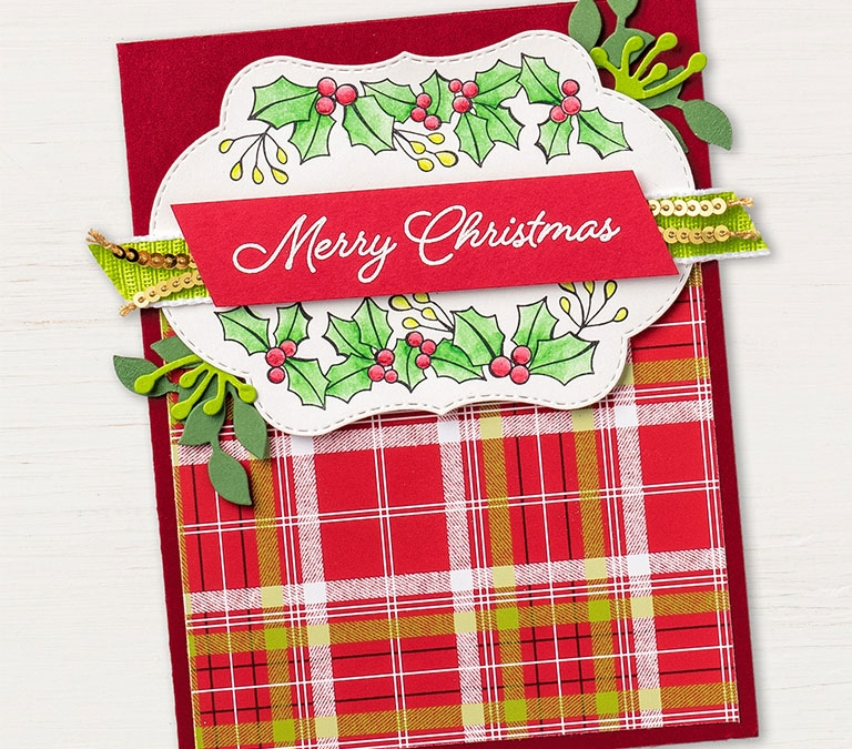 Blended Season Christmas Card with Supply List