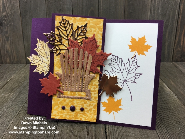 Created by Dawn Michels with Stampin' Up! Colorful Season and Seasonal Layers Thinlits #stampingtoshare