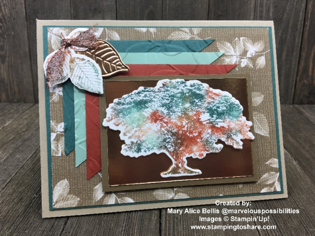 Created by Mary Alice Bellis with Stampin' Up! Rooted in Nature Bundle #stampingtoshare