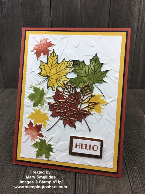 Created by Mary Smallidge with Colorful Seasons and the Seasonal Layers Thinlits #stampingtoshare