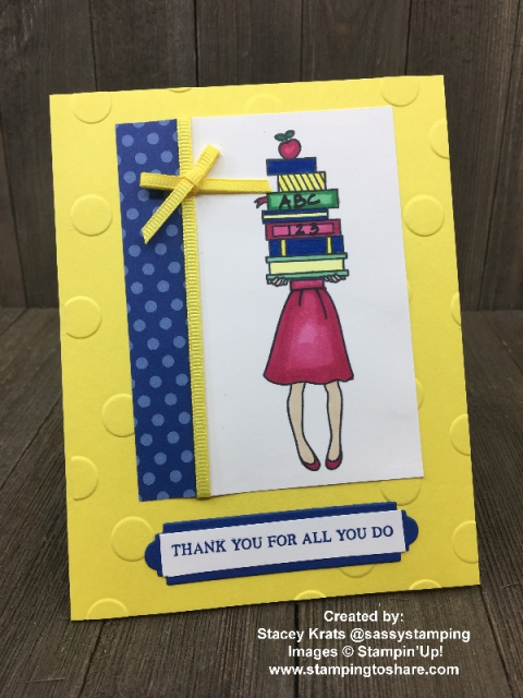 Created by Stacey Krats with Stampin' Up! Hand Delivered Host Set