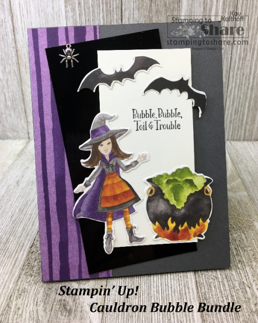 Stampin' Up! Cauldron Bubble Bundle in a Make It Monday FB Live with Kay Kalthoff at #stampingtoshare