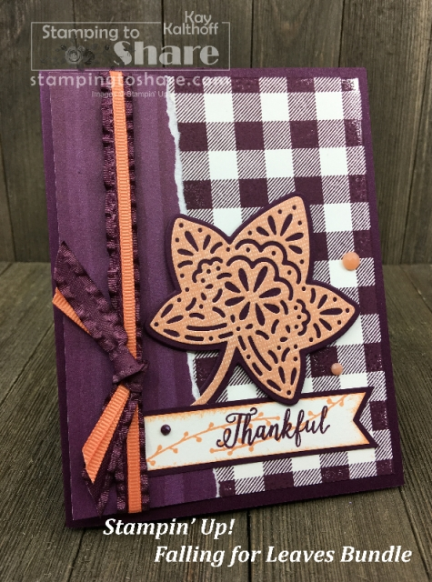 Stampin' Up! Falling for Leaves Bundle in a Make It Monday FB Live Stamp and Chat with Kay Kalthoff at #stampingtoshare