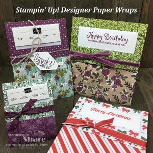 Make It Monday FB Live! Designer Paper Wraps for Cards & Embellishments!