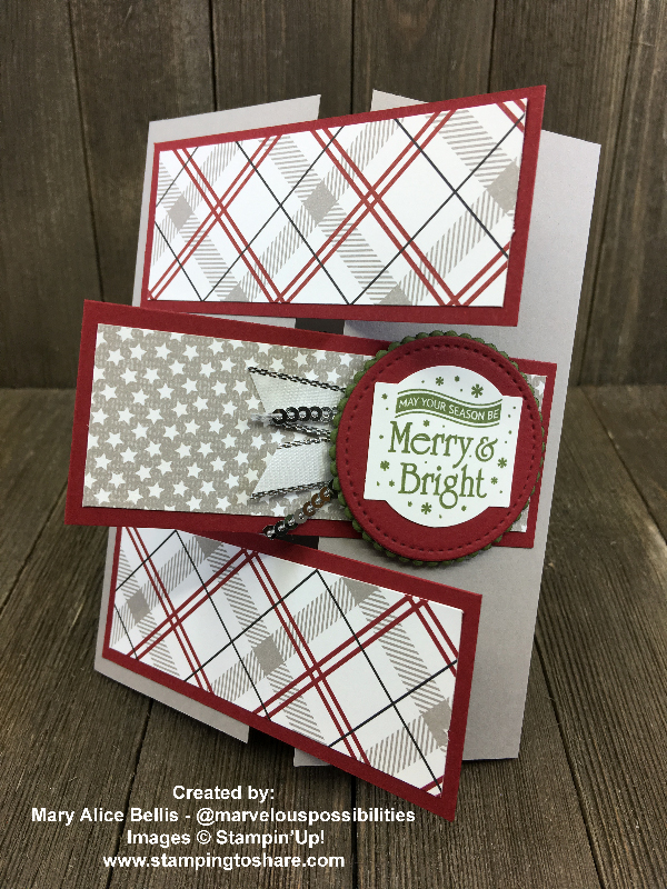 Stampin' Up! Christmas Traditions Punch Box created by Mary Alice Bellis for Demo Meeting Swap for #stampingtoshare