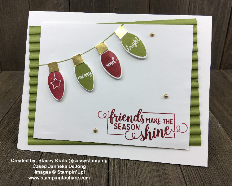Stampin' Up! Making Christmas Bright Bundle created by Stacey Krats for Demo Meeting Swap for #stampingtoshare