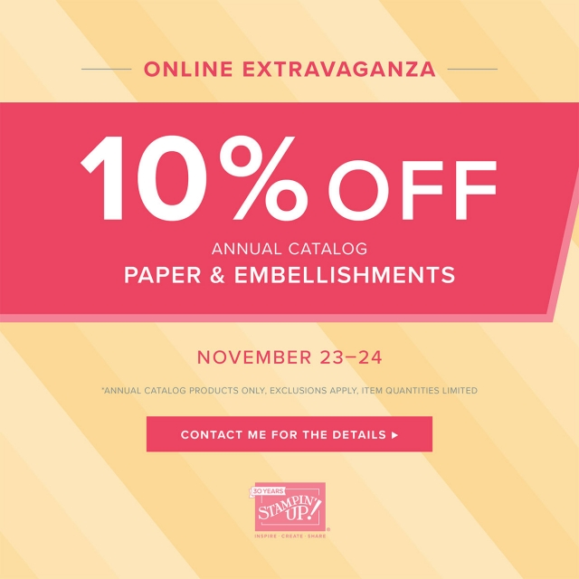 Stampin' Up! Paper and Embellishments on Sale for 48 Hours!