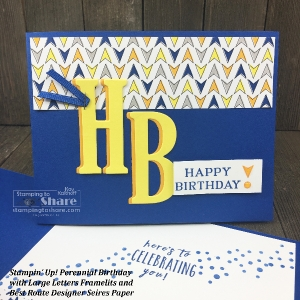How to Make Simple Masculine Cards with Stampin' Up! Perennial Birthday