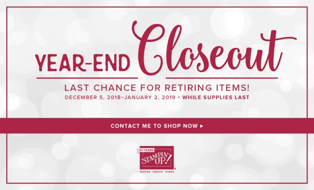 Year End Closeout at Stampin' Up! GREAT Deals While Supplies Last!
