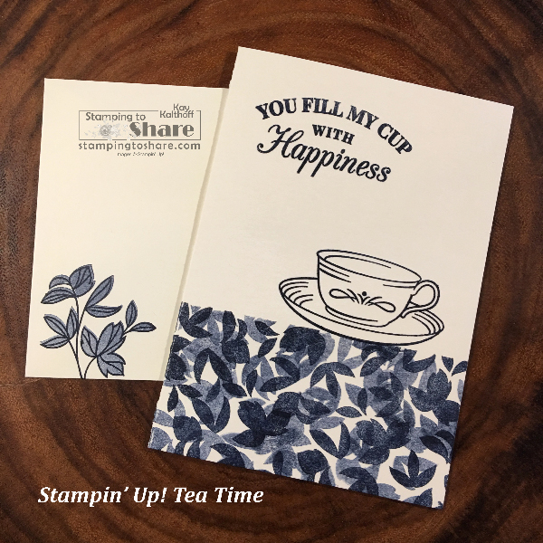 Time for Tea and #simplestamping created by Kay Kalthoff for Stamp and Chat Facebook Live #stampingtoshare