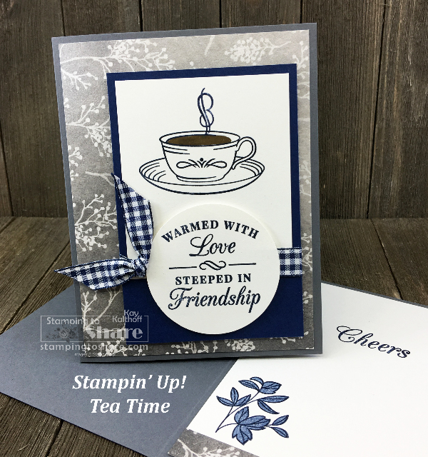 Time for Tea with Frosted Floral Designer Paper created by Kay Kalthoff for Stamp and Chat FB Live at #stampingtoshare
