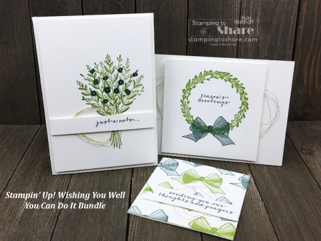 You Can Make It Wishing You Well Bundle from the 2018 Stampin' Up! Holiday Catalog created by Kay Kalthoff #stampingtoshare