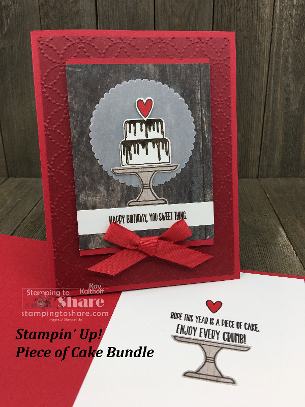 Piece of Cake Bundle – One Card with Brusho, One Card with Layers!
