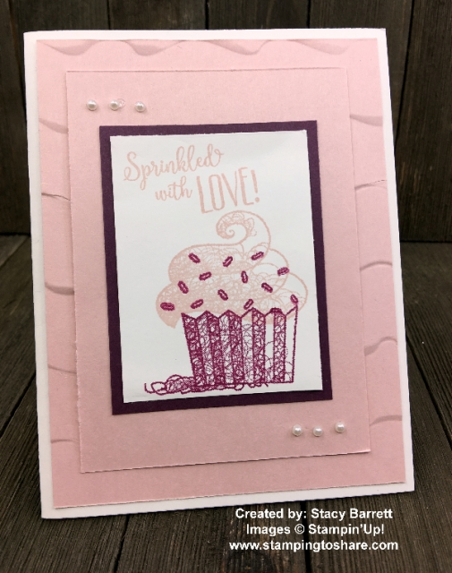 Hello Cupcake created by Stacy Barrett for Demo Meeting Swap with #stampingtoshare