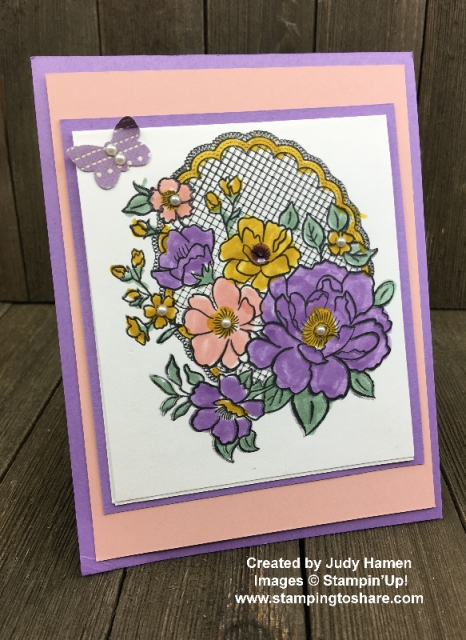 Lovely Lattice created by Judy Hamen for Demo Meeting Swap for #stampingtoshare
