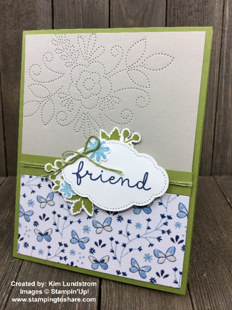 Needle and Thread Bundle card created by Kim Lundstrom for Demo Meeting Swap #stampingtoshare