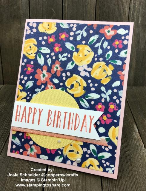 Perennial Birthday with Garden Impressions Designer Paper created by Josie Scheider for Demo Meeting Swap #stampingtoshare