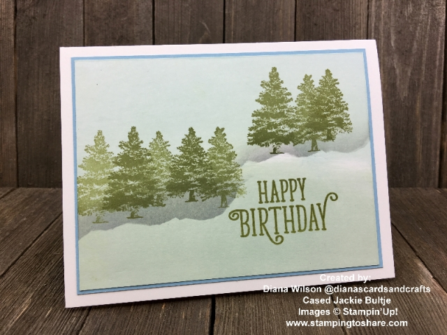 Stampin' Up! Rooted in Nature with Happy Birthday Gorgeous created by Diana Wilson for Demo Meeting Swap #stampingtoshare