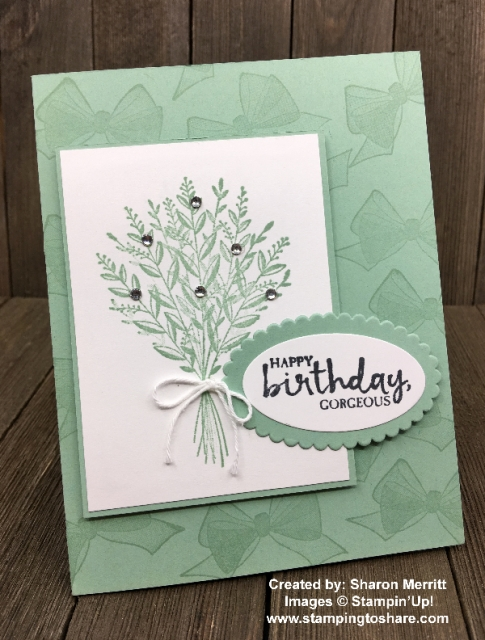 Stampin' Up! Wishing You Well created by Sharon Merritt for Demo Meeting Swap #stampingtoshare