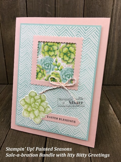 Stampin' Up! Painted Seasons Bundle Easter Card by Kay Kalthoff for #stampingtoshare
