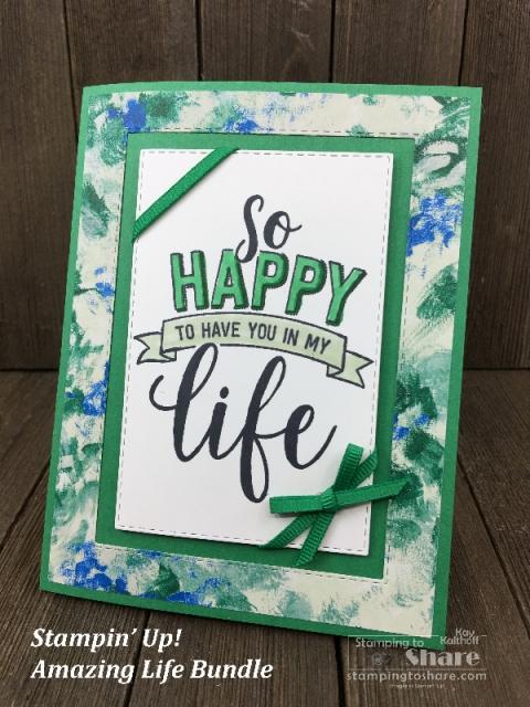 Stampin' Up! Amazing Life Bundle Garden Impressions DSP Kay Kalthoff #stampingtoshare