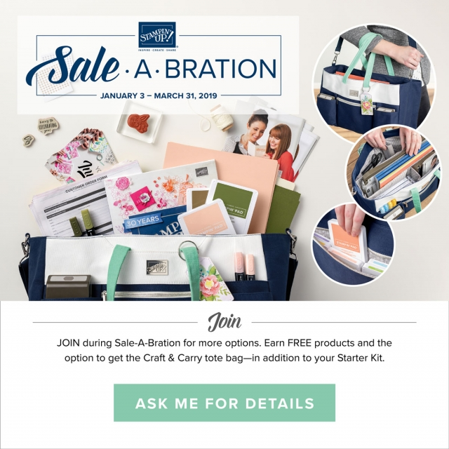 Join Stampin' Up! During Sale-a-bration and Get the Craft and Carry Tote #stampingtoshare