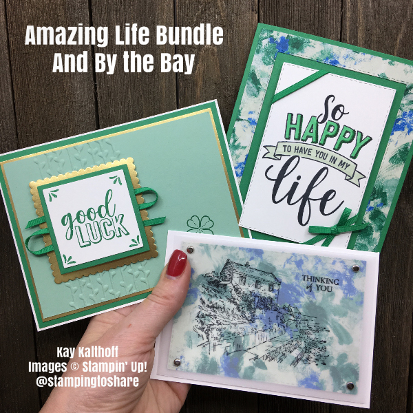 Stampin' Up! Amazing Life Bundle and By the Bay